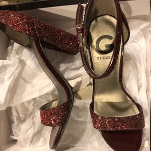 Guess Shantel7 Glitter Ankle Strap Sandals
